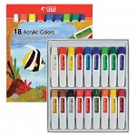 Acrylic Color AC-12ML-18 (18 Colors)