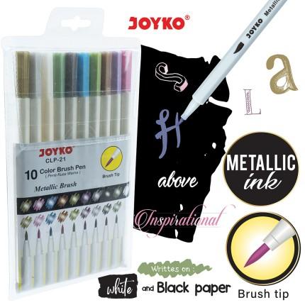 joyko Pen Pena Color Brush Pen Color Brush Pen Color Pen CLP-21 (Metalic Brush)