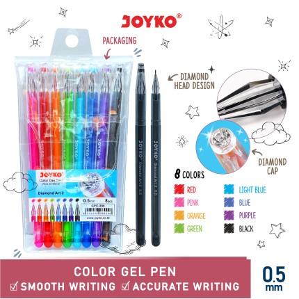 joyko Pen Pena Color Pen Pena Warna Pena Jel Warna GP-296 (Diamond Art)