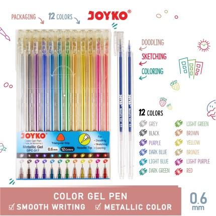 joyko Pen Pena Color Pen Pena Warna Pena Jel Warna GPC-317 (Metalic Gel)