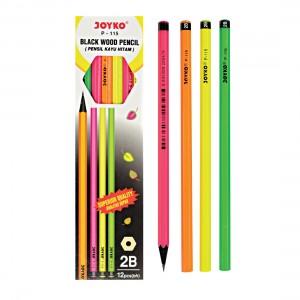 joyko Pencil Pencil Wooden Pencil Pensil Kayu Pencil P-115 (2B)
