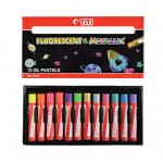 Oil-Pastel PL-12FM (12 Colors) Fluorescent & Metallic