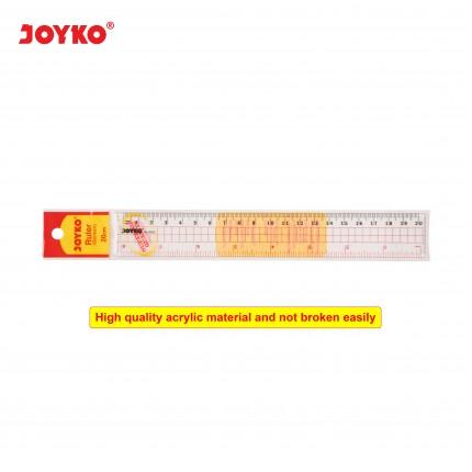 joyko Ruler Penggaris Acrylic Ruler RL-AC20 (20 cm)