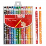 Paper Roll Crayon TI-CP-12R (12 Colors)
